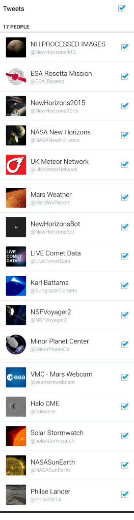 twitter notifications STALKING THE COSMOS